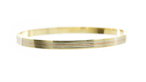 Tri-Tone Banded Bangle Bracelet (Estate)