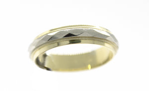 8-2Tone Wedding Band 10K White & Yellow Gold MSRP $519 ||| FINAL SALE