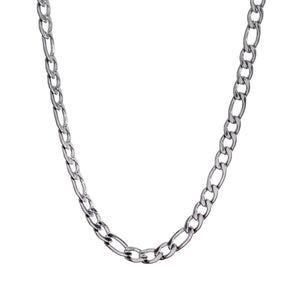 ~4mm Width  Sterling Silver  Figaro Chain