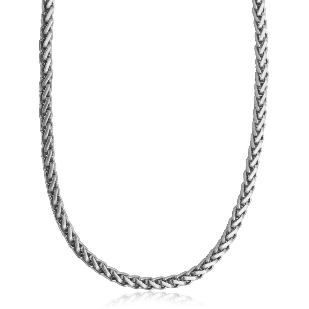 ~1.9mm Width  Sterling Silver  Wheat Chain