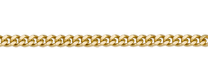 Yellow Gold Curb Chain ~2mm Wide