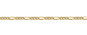 Yellow Gold Figaro Chain ~1.5mm Wide