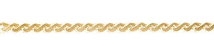 Yellow Gold Serpentine Chain ~1.5mm Wide