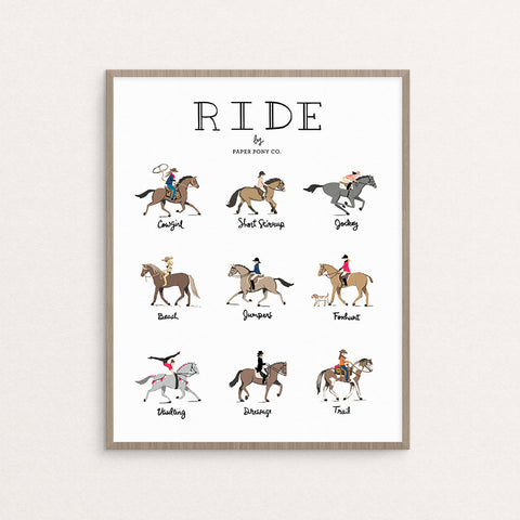 Paper Pony Co. - Ride Art Print