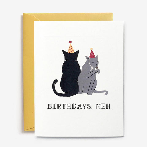 Paper Pony Co. - Birthdays. Meh Card