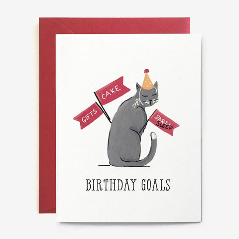 Paper Pony Co. - Birthday Goals Card