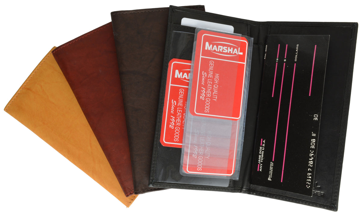 wholesale dealer 6e1c4 a0992 Checkbook Cover I Leather – Marshalwallet