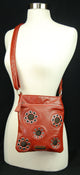 Cross Body Leather Bag Classic Style Zippered Enclosure 11 SH 0216 D