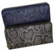 Snake Design Zip Around Ladies Wallet 126 11876 6-[Marshal wallet]- leather wallets