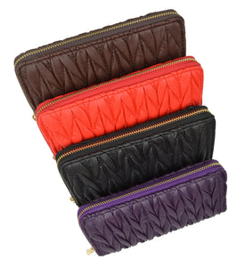 New Fashion Zip around Ladies Wallet 126 11876 8-[Marshal wallet]- leather wallets