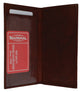 Premium Soft Leather Checkbook Cover simple P156-[Marshal wallet]- leather wallets