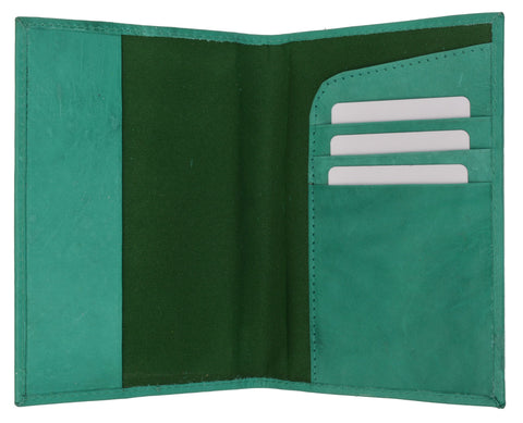 601CF USA-BLIND/Leather Passport wallet with Card holder