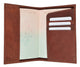 601CF USA-BLIND/Leather Passport wallet with Card holder-[Marshal wallet]- leather wallets