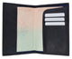 601CF BLIND/Leather Passport wallet with Card holder