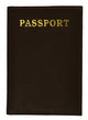 Leather Passport wallet with Card holder 601 CF IMPRINT-[Marshal wallet]- leather wallets