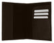 601CF USA-IMPRINT/Leather Passport wallet with Card holder-[Marshal wallet]- leather wallets