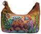 P0371HB Large Ladies Leather Shoulder Bag Spring Garden Hand painted Purse for Women-[Marshal wallet]- leather wallets