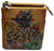 P0596HB Cazoro Handpainted Wild Flowers Ladies Shoulder Crossbody Bag Leather Purse-[Marshal wallet]- leather wallets