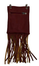 HH443-6 Native American Tribal with Fringe Mini Cross body Bags-[Marshal wallet]- leather wallets