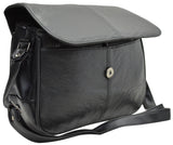 Black Women's Leather Organizer Purse Shoulder Bag Cross Body Handbag New 128 CH10 010
