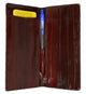 Eel skin  Checkbook Wallet E 529-[Marshal wallet]- leather wallets