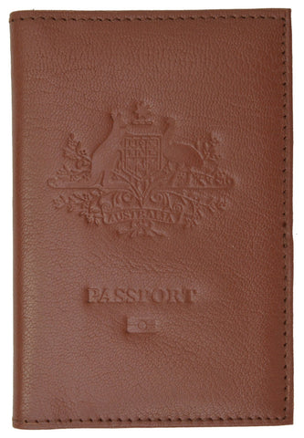 Australia Passport Cover Genuine Leather Passport Wallet for Travel with Embossed logo 151 BLIND Australia