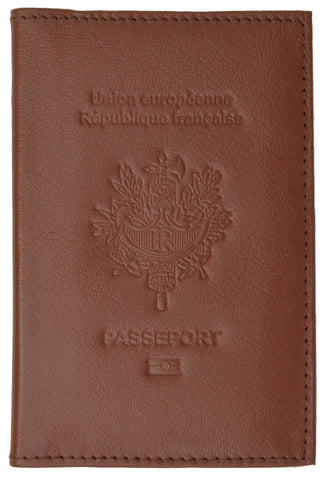 France Passport Cover Genuine Leather Passport Holder Travel Wallet with  Embossed REPUBLIQUE FRANCAISE 151 BLIND France e1222c3eefb6