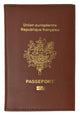 France Passport Cover with Credit card Holder Genuine Leather Travel Wallet with Imprint REPUBLIQUE FRANCAISE 601 France-[Marshal wallet]- leather wallets