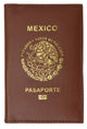 Mexico Passport Cover Genuine Leather Travel Wallet with Emblem Pasaporte 151 Mexico-[Marshal wallet]- leather wallets