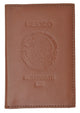 Mexico Passport Cover Genuine Leather Travel Wallet with Emblem Embossed Pasaporte 151 BLIND Mexico-[Marshal wallet]- leather wallets
