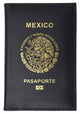 Mexico Passport Cover Genuine Leather Travel Wallet Credit Card Slots 601 Mexico-[Marshal wallet]- leather wallets