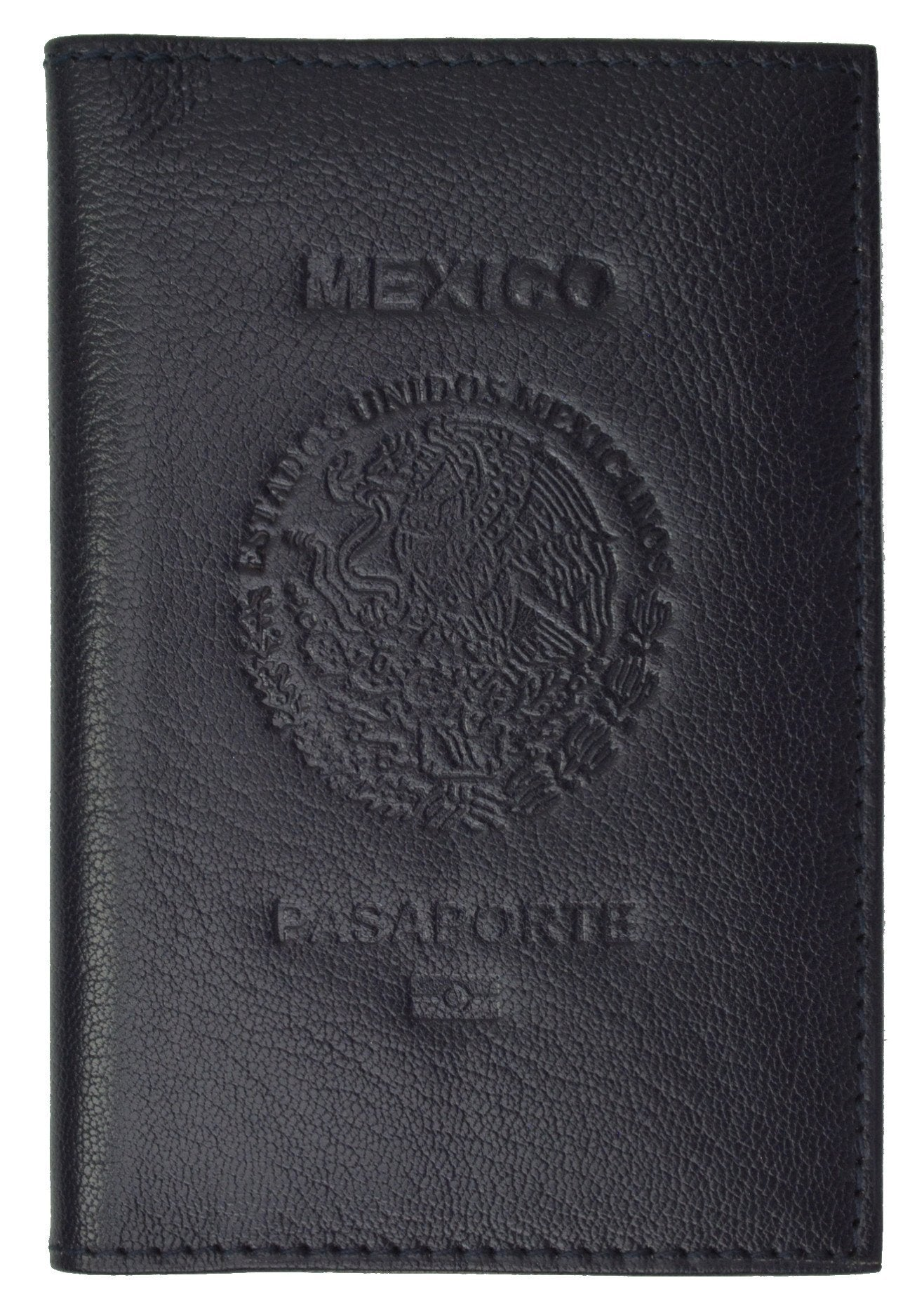 f6e6da99baf6 Mexican Passport Cover Genuine Leather Travel Wallet with Credit ...