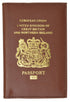 United Kingdom Passport Wallet Genuine Leather Passport holder with British Passport Emblem 151 UK