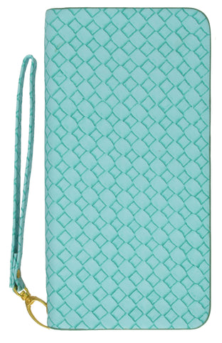Ladies Wristlet Wallet Woven Design 111 016 2 WV