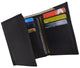 Men's Genuine Leather Trifold Credit Card Money Holder Wallet W/Outside ID Window P1355-[Marshal wallet]- leather wallets