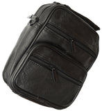 New Small Black Leather Organizer Shoulder Hand Bag Purse 128 547