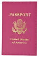 USA Logo Passport Cover Holder 151 PU USA-[Marshal wallet]- leather wallets