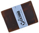 New Small Mens RFID Vintage Leather Bifold Slim Credit Card ID Wallet by Cazoro 618067RHU-[Marshal wallet]- leather wallets