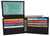 Boys Slim Flap Up ID Card Bifold Leather Wallet K400-[Marshal wallet]- leather wallets