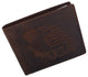 Men's Cowhide Leather USA Flag Eagle Logo RFID Bifold Wallet /53HTC Eagle Flag-[Marshal wallet]- leather wallets
