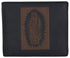 Guadalupe Virgin Logo RFID Genuine Leather Mens Bifold Wallet /53HTC Guadalupe Virgin