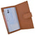 Genuine Leather Basic Checkbook Holder with Snap Closure 157-[Marshal wallet]- leather wallets