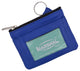 Genuine Leather Coin Change Purse With Front ID Window & Key Ring 710 NEW-[Marshal wallet]- leather wallets