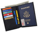 RFID Blocking Leather Passport Holder Wallet Cover Case Travel For Men and Women RFID751-[Marshal wallet]- leather wallets