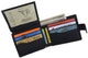 Black Bifold Mens Genuine Leather Credit Card ID Wallet with Snap Closure 404353-[Marshal wallet]- leather wallets