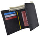 Black Mens Leather RFID Trifold Card ID Wallet W/ Removable Card Holder & Gift Box RFID521955-[Marshal wallet]- leather wallets