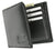 New Genuine Leather Men's Credit Card Compact Center Flip ID Bifold Wallet with Logo 600 052 BK LOGO