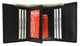 Mens Black Leather Wallet Classic Trifold ID Window 60 1107 BK-[Marshal wallet]- leather wallets