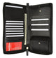 Genuine leather Black Passport Credit card ID Holder Travel Organizer by Marshal L 663-[Marshal wallet]- leather wallets