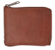 New genuine cowhide leather men's zip around bi fold outside ID credit card flap up bill wallet 1556CF-[Marshal wallet]- leather wallets